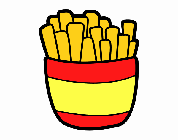 Desenho De Batatas Fritas Pintado E Colorido Por Usuario Nao