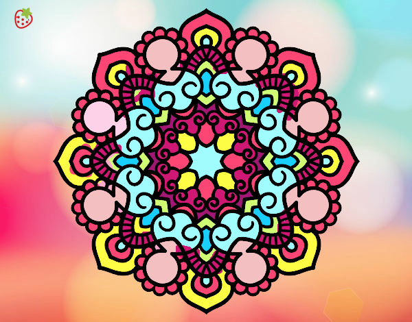 Desenho De Mandala Colorida Pintado E Colorido Por Usuario Nao