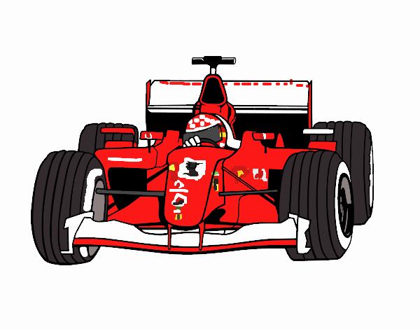 Desenho De Michael Schumacer Ferrari 2006 Pintado E Colorido Por