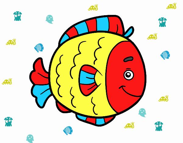 Desenho De Peixinho Pintado E Colorido Por Usuario Nao Registrado
