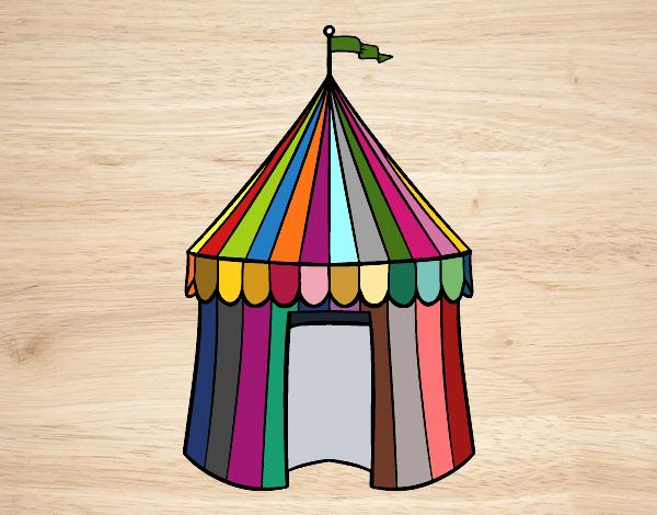 Desenho De Tenda De Circo Pintado E Colorido Por Vivihsanto O Dia