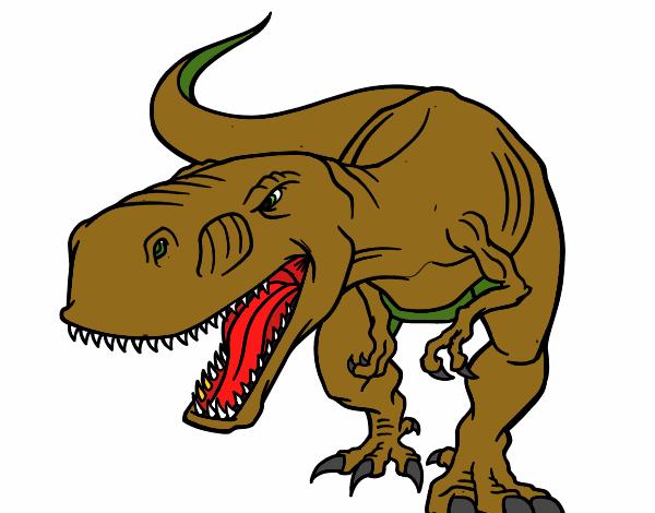 Desenho De Dinossauro Pintado E Colorido Por Usuario Nao
