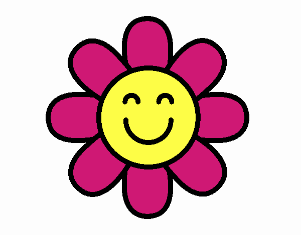 Desenho De Flor Simples Pintado E Colorido Por Usuario Nao