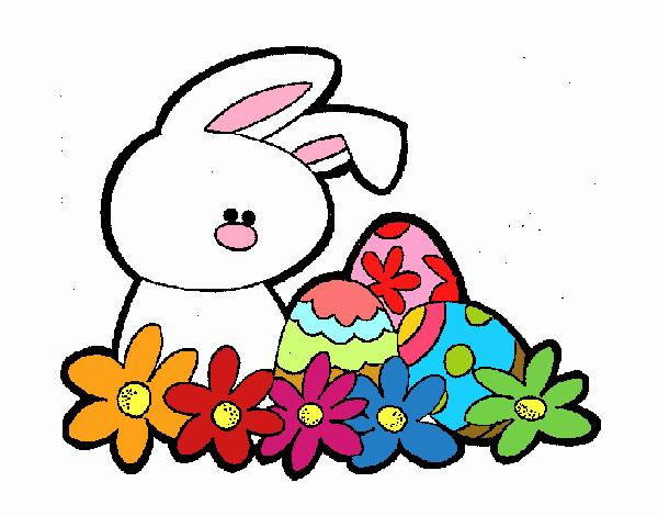 Desenho De Coelhito Da Pascoa Pintado E Colorido Por Usuario Nao
