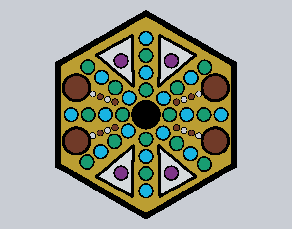 Mandala hexagonal