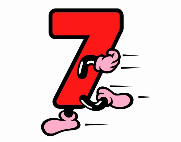 Desenho De Numero 7 Pintado E Colorido Por Usuario Nao Registrado