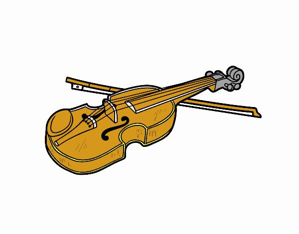 Desenho De Violino Stradivarius Pintado E Colorido Por Usuario Nao