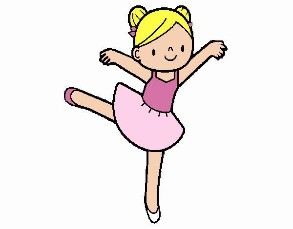 Desenho De Bailarina De Bale Pintado E Colorido Por Usuario Nao
