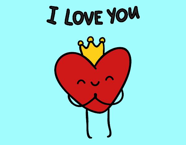 Desenho De Coracao I Love You Pintado E Colorido Por Usuario Nao