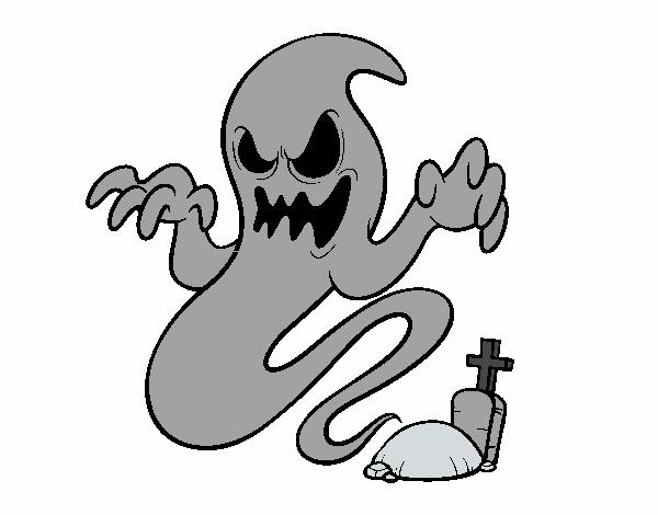 Desenho De Fantasma Do Tumulo Pintado E Colorido Por Usuario Nao
