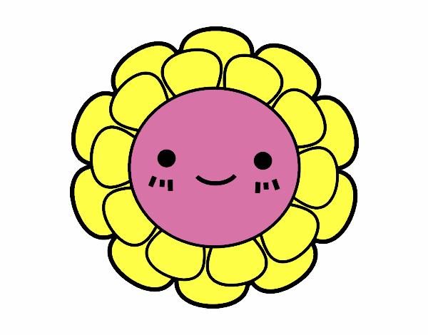 Desenho De Florzinha Infantil Pintado E Colorido Por Usuario Nao