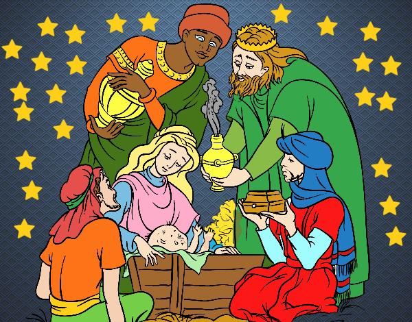 Desenho De O Nascimento De Jesus Pintado E Colorido Por Usuario