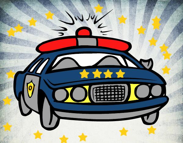 Desenho De Carro De Policia Pintado E Colorido Por Usuario Nao