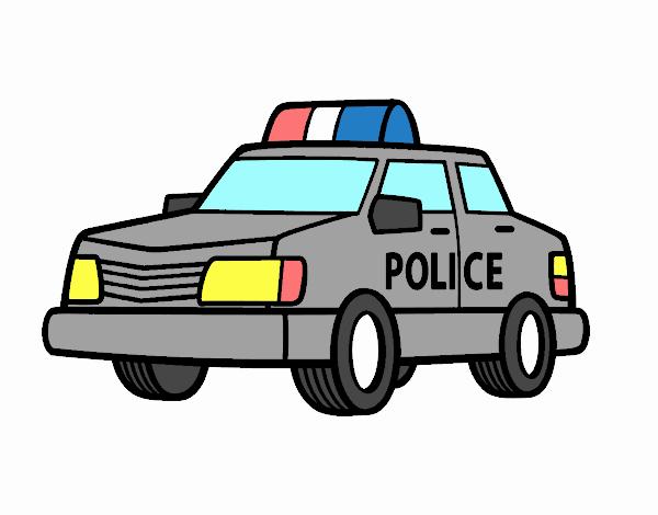 Desenho De Um Carro De Policia Pintado E Colorido Por Usuario Nao