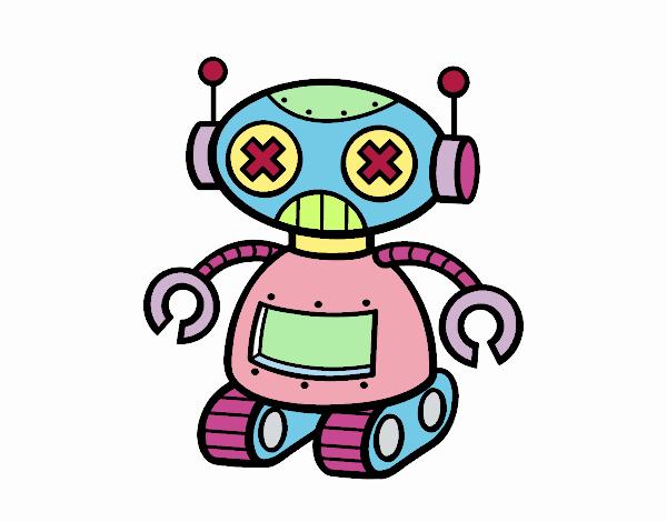 Desenho De Boneca Robo Pintado E Colorido Por Usuario Nao