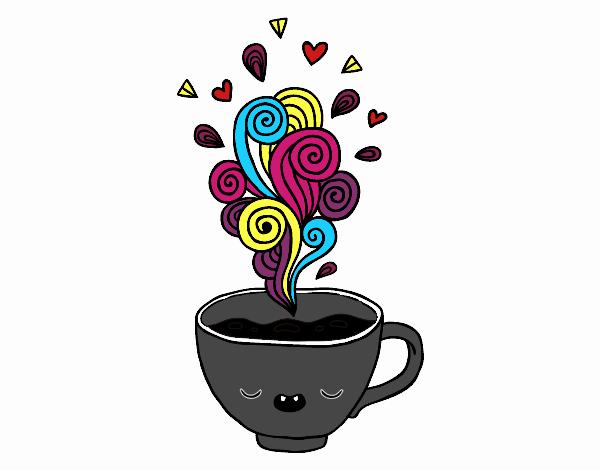 Imagens De Xicara De Cafe Para Colorir