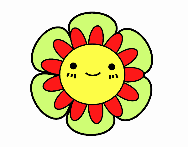 Desenho De Flor Infantil Pintado E Colorido Por Usuario Nao
