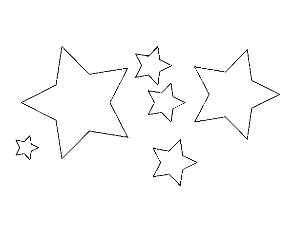 desenho de 6 estrela para colorir colorir com