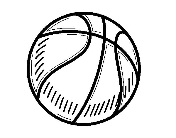 desenho de a bola de basquete para colorir colorir com