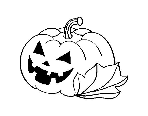Desenho De Abobora De Halloween Decordada Para Colorir Colorir Com