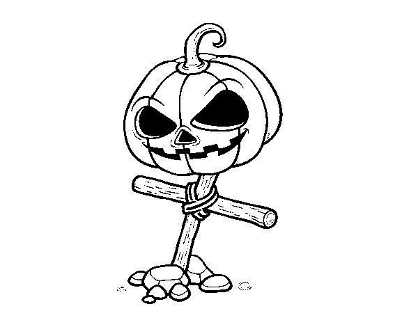 Desenho De Abobora De Halloween Na Cruz Para Colorir Colorir Com
