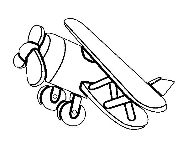 Desenho De Avião Acrobático Para Colorir