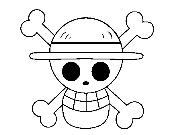 desenho de bandeira de chapéu de palha para colorir colorir com