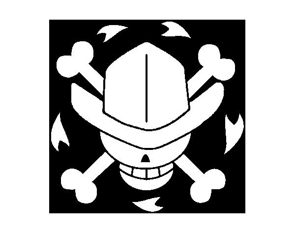 Desenho De Bandeira De Nico Robin Para Colorir Colorir Com