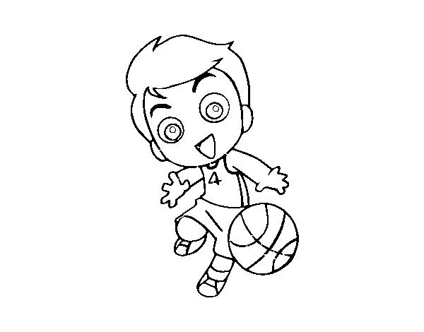 desenho de basquetebol para colorir colorir com