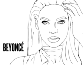 Dibujo de Beyoncé I am Sasha Fierce