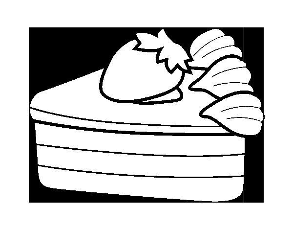 Desenho de Bolo de morango para Colorir - Colorir.com