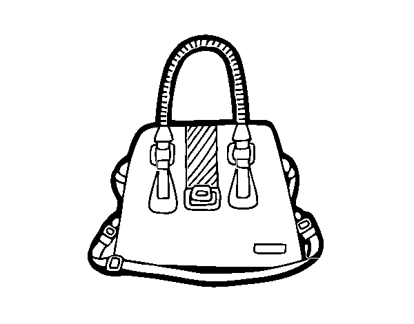 Desenho De Bolsa Com Alcas Para Colorir Colorir Com
