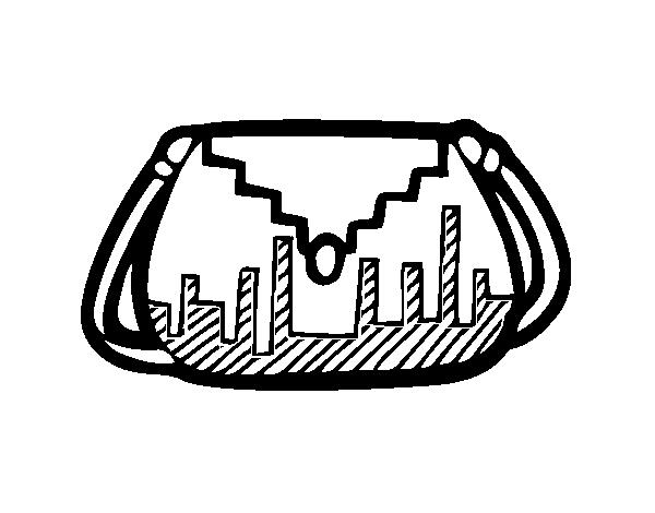 Desenho De Bolsa Designer Para Colorir Colorir Com