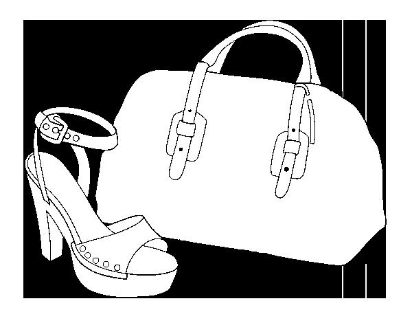 Desenho De Bolsa E Sapato Para Colorir Colorir Com