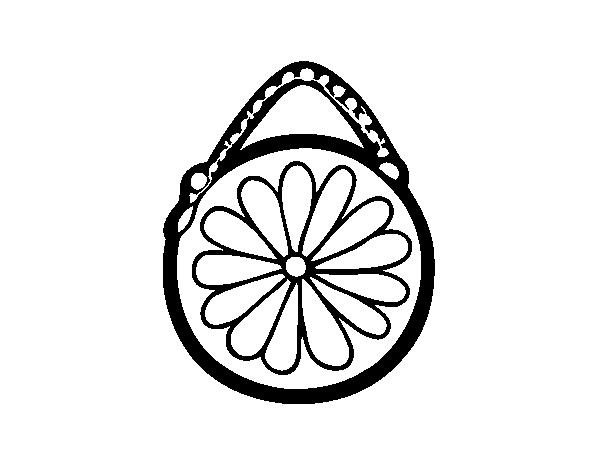 Desenho De Bolsa Redondo Para Colorir Colorir Com
