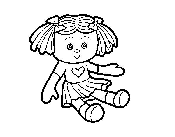 Desenho De Boneca De Brinquedo Para Colorir
