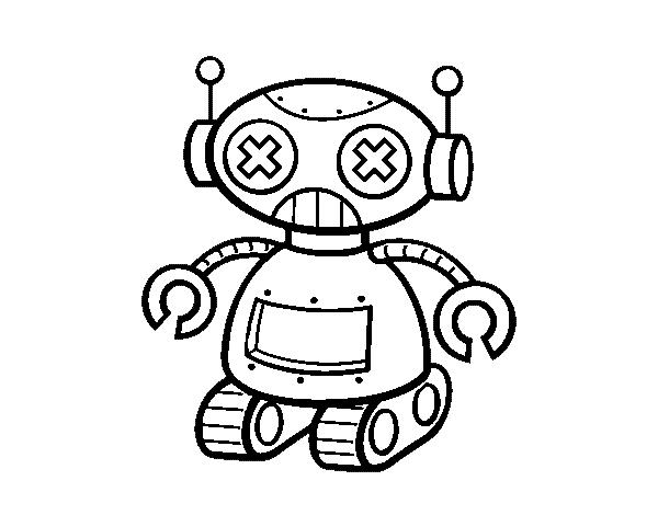 Desenho De Boneca Robo Para Colorir Colorir Com