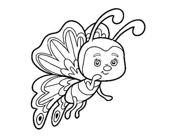 Desenhos De Animais Para Colorir Colorir: Desenho De Borboleta Coquete Para Colorir