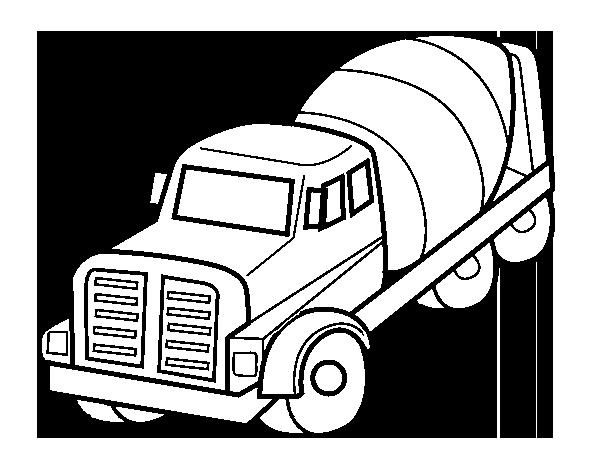Desenho De Caminhão Betoneira Para Colorir