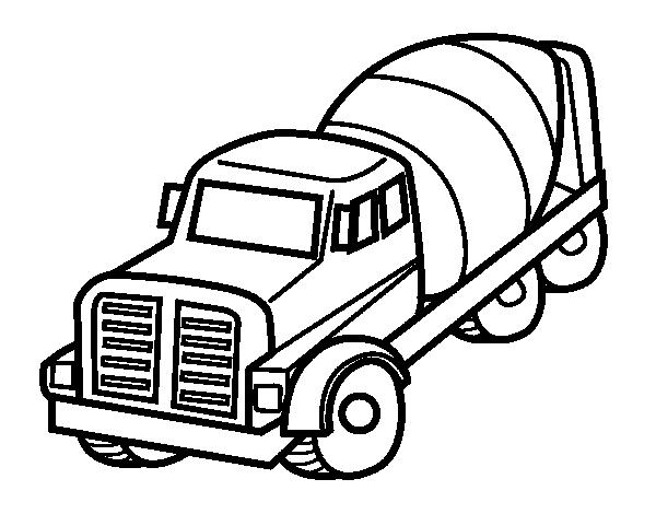 desenho de caminhão betoneira para colorir colorir com
