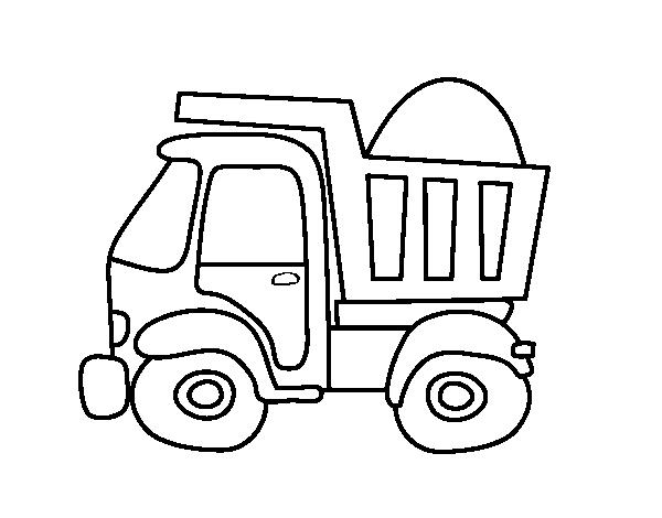 Desenho De Caminhao De Transporte Para Colorir Colorir Com