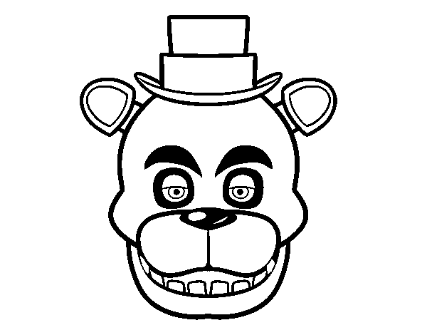 desenho de cara de freddy de five nights at freddy s para colorir