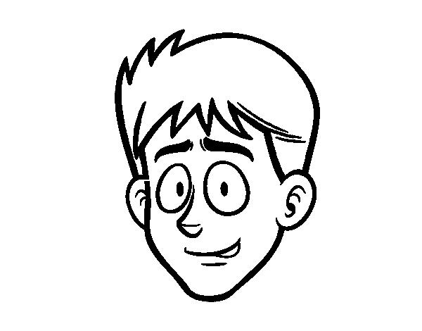 Desenho De Cara De Jovens Para Colorir
