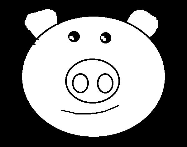 desenho de cara de porco para colorir colorir com
