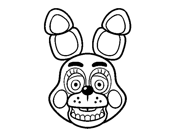 desenho de cara de toy bonnie de five nights at freddy s para
