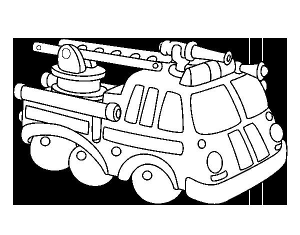 Desenho De Carro De Bombeiro Para Colorir Colorir Com