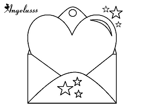 Corações Desenhos Para Colorir Colorir: Desenho De Carta Com Coração Para Colorir
