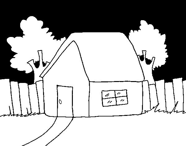 Desenho De Casa Com Cerca Para Colorir Colorir Com