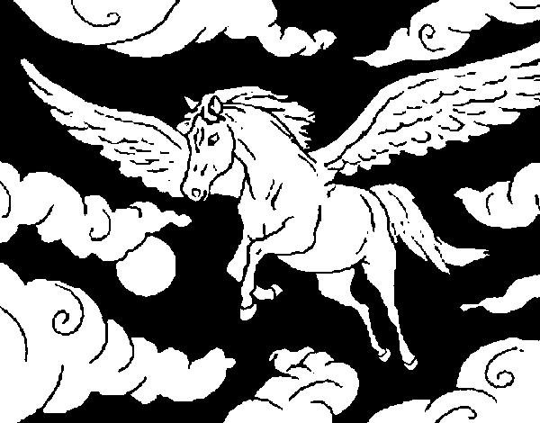 Desenho De Cavalo Alado Para Colorir Colorir Com