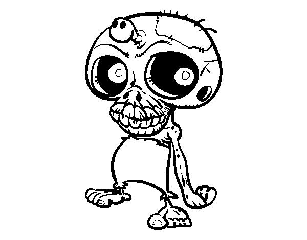 Desenho De Caveira Zombie Para Colorir